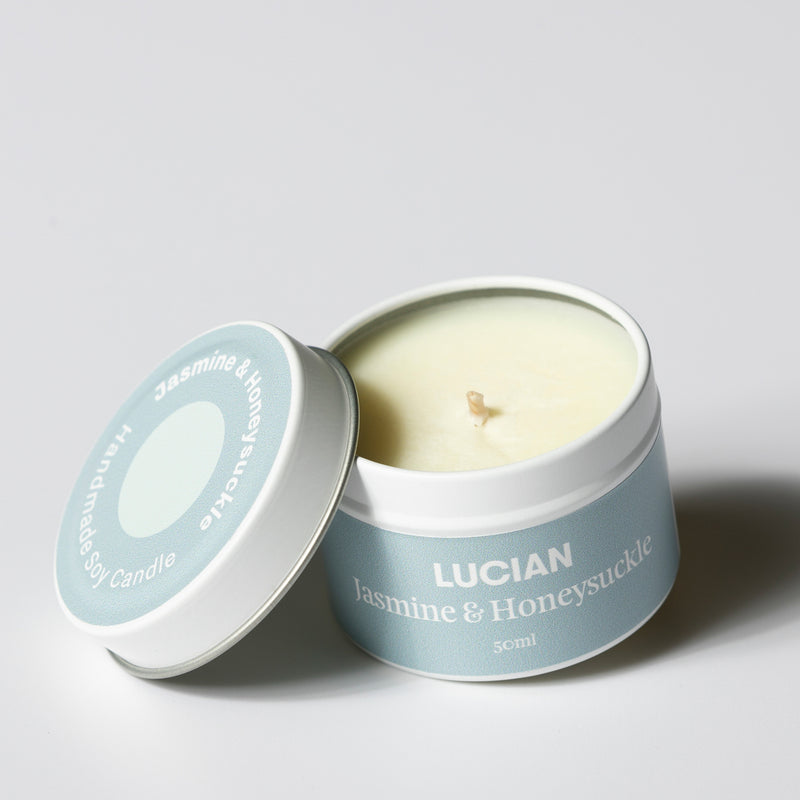 Jasmine & Honeysuckle Travel Tin Candle
