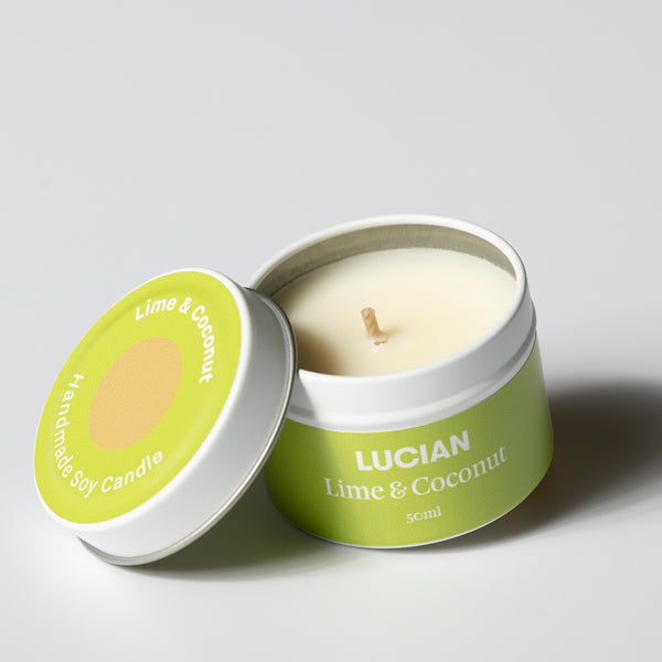 Lime & Coconut Travel Tin Candle