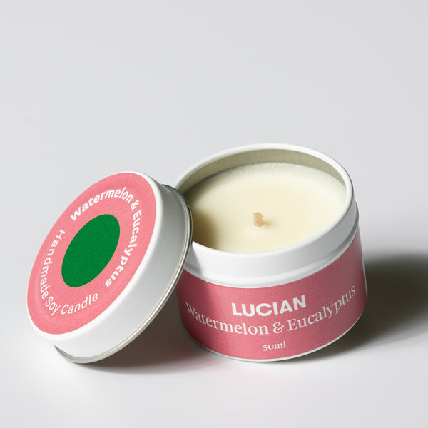 Watermelon & Eucalyptus Travel Tin Candle
