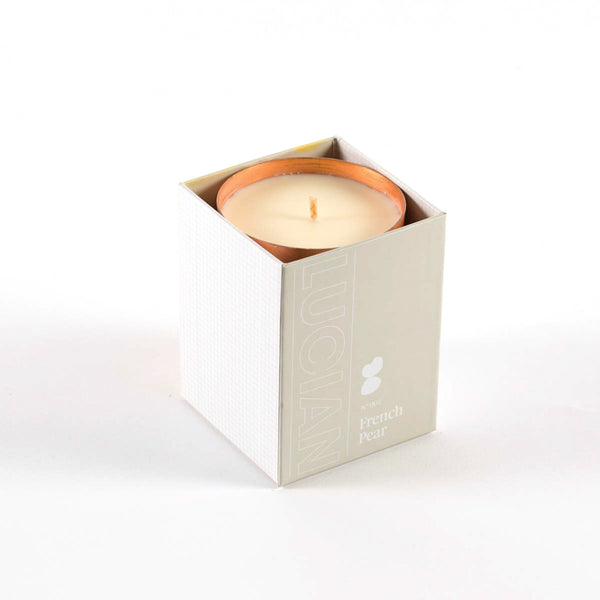 French pear pure copper soy candle made in Canberra