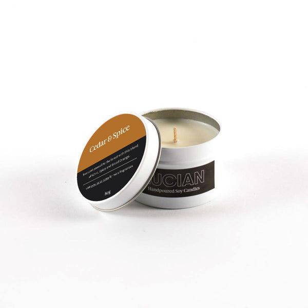 LIMITED EDITION: Cedar & Spice Travel Tin Candles