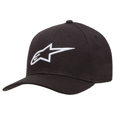 Alpinestars Ageless Curve Flex Fit Hat Small/Medium Black/White