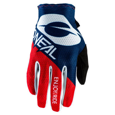 O'Neal Racing Matrix Stacked Gloves Large Blue/Red