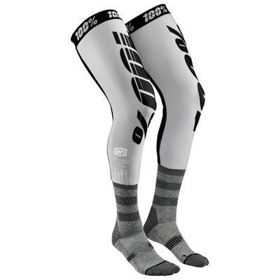 100% Rev Knee Brace Socks Size 10-13 Grey