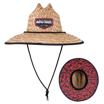 Rocky Mountain ATV/MC Logo Straw Hat Black/Red
