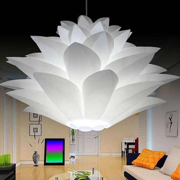 Lotus Chandelier Lampshade DIY Lotus Flower Six-layer Lamp Shade Romantic Room Pendent Lighting Cover Hotel Bar Decor