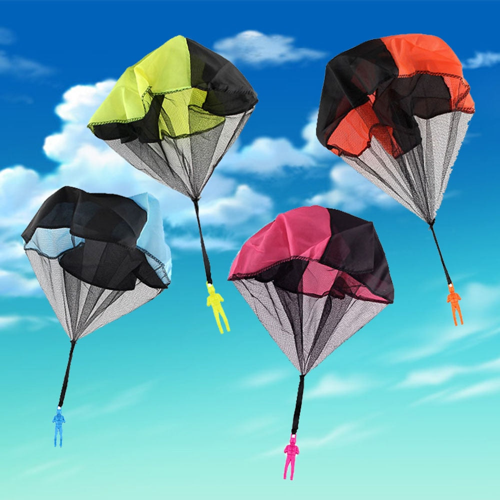 Hand Throwing Mini Play Soldier Parachute Toys For Kids Outdoor Fun Sports Children's Educational Parachute Game