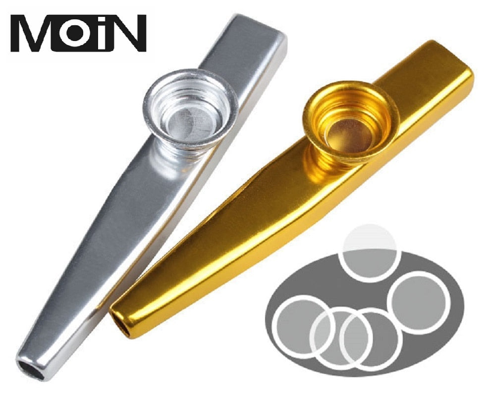 MoiN Metal Lightweight Kazoo Guitar Beginner Music Lovers Musical Instrument 5 Gifts Diaphragm Simple Design 6 Colors Optional
