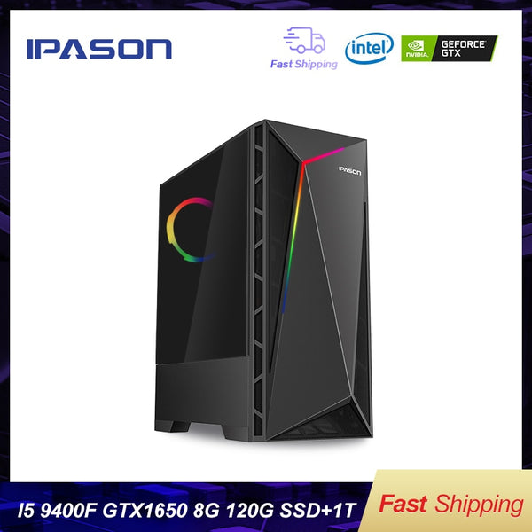 Intel Desktop Gaming PC P18 i5 9400F 6-core /Dedicated Card GTX1650 4G/1T+120G SSD / 8G DDR4 RAM gaming  assembly computer PC