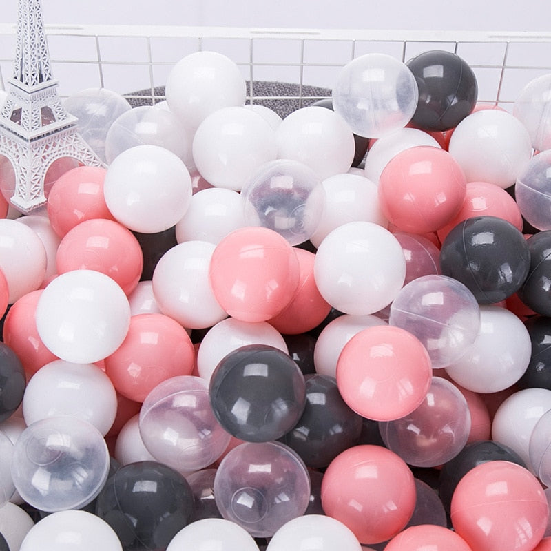 Eco-Friendly Colorful Ball Pits Soft Plastic Ocean Ball Transparent Water Ocean Wave Ball Toys For Children Kid Baby 5.5/7/8CM