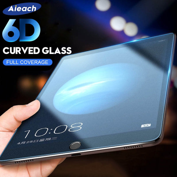 6D Curved Edge Screen Protector For iPad Pro 11 10.5 Tempered Glass On The For iPad 10.2 2019 2017 2018 9.7 Air 1 2 3 mini 4 5