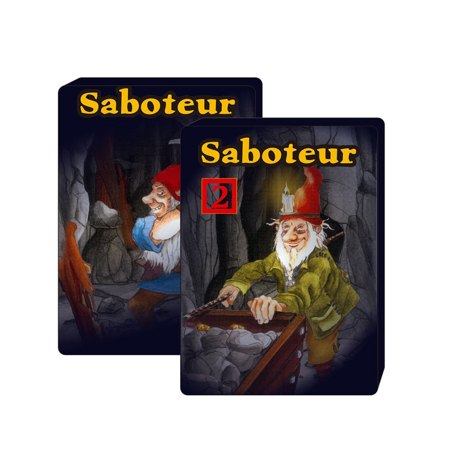 2019 full English Saboteur 1 & saboteur 1+2 card game jogos de tabuleiro dwarf miner jeu de base+extension board game
