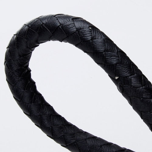6ft/1.85m Long Whip Bull Whip Shepherd Bullwhip Braided Black Stockwhip Animal Farming Performance Equipment