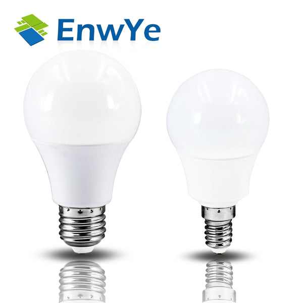 EnwYe LED E14 LED Light E27 LED Bulb AC 220V 240V 60W 45W 35W 25W 20W 24W 18W 15W 12W 9W 6W 3W Lampada LED Spotlight Table Lamp