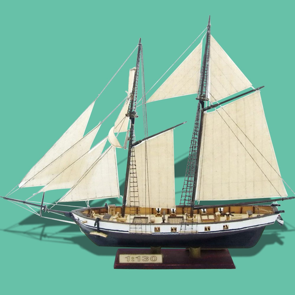 1:130 Scale Sailboat Model 380x130x270mm DIY Ship Assembly Model Kits Classical Handmade Wooden Sailing Boats Children Toys Gift