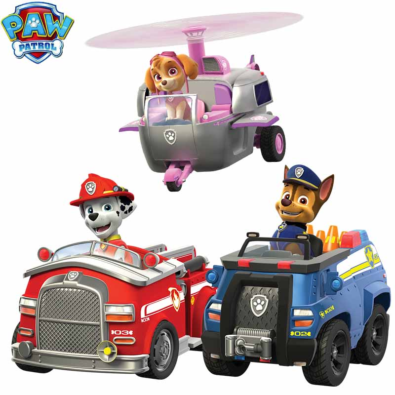Paw Patrol Dog Patrulha Canina Anime Figure Car Plastic Action Figure Decoration Toys for Children Birthday Christmas Gifts 2D32