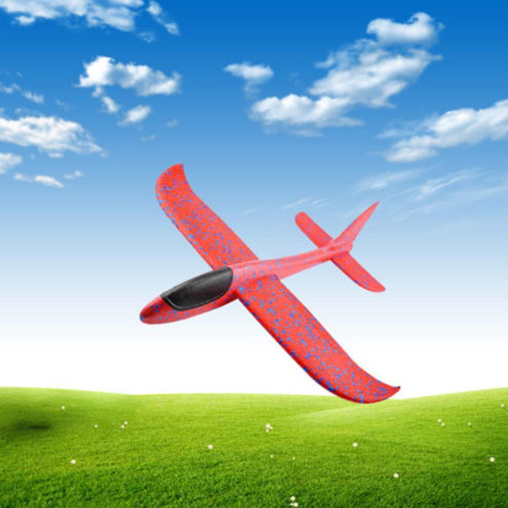 Hand Throw Airplane Flying Glider Planes EPP Foam Plane Model Party Bag Fillers  Kids Toys Outdoor Launch Game Toy 37or 48cm