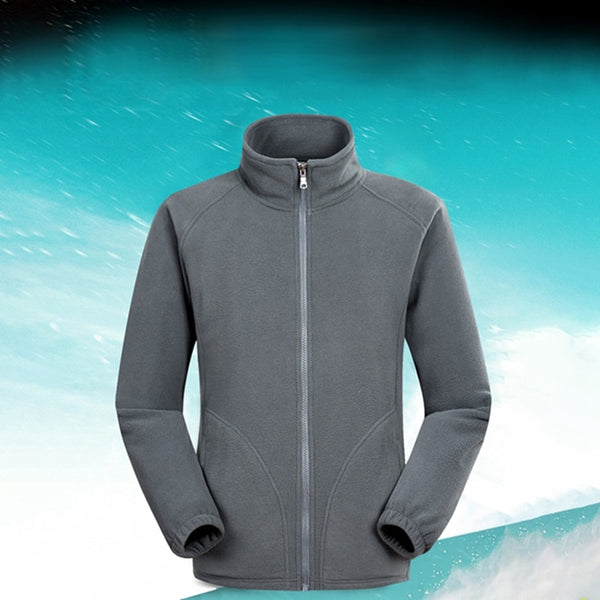 Men Ski Outdoor Sport Polar Fleece Jacket Winter Thermal Coats Full Zip Jacket Camping Hiking Overcoat 2019
