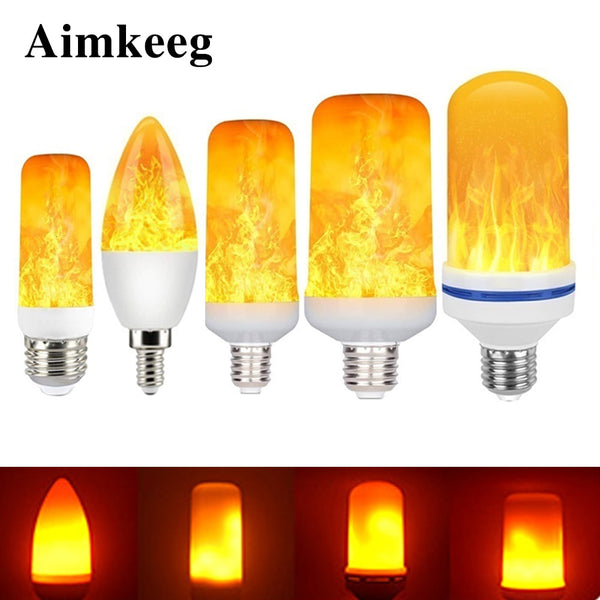 E27 Flame Bulb LED Dynamic Flame Effect Fire Light Bulbs Corn Bulb Creative Flickering Emulation Decor LED Lamp Lighting Lamp