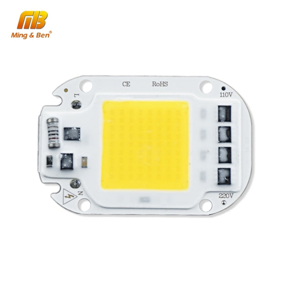 LED COB Lamp Chip 20W 30W 50W AC 110V 220V Smart IC LED Beads For DIY LED Grow Floodlight Bulb Day White Cold White Warm White