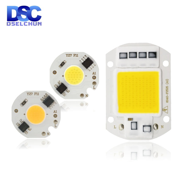 LED COB Chip Lamp 10W 20W 30W 50W 220V Smart IC No Need Driver LED Bulb 3W 5W 7W 9W for Flood Light Spotlight Diy Lighting