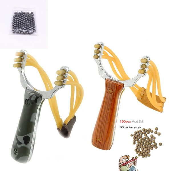 Outdoor Games Hunt Catapult Rubber Band Toys Sling Shot Sports Games Slingshot Aluminium Catapult Marble Hunting Camouflage Bows