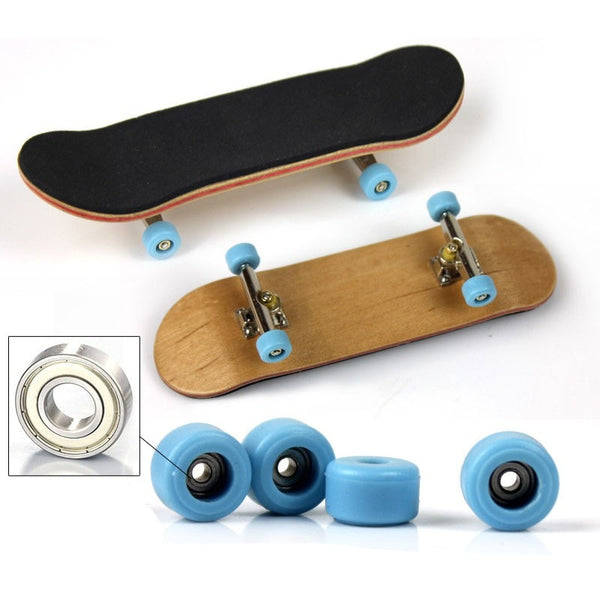 Wooden Fingerboard Professional Finger SkateBoard Wood Basic Fingerboars With Bearings Wheel Foam Tape Set Finger Skateboards
