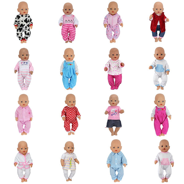 Doll Jump Suits Fit For 43cm Baby Doll  Doll Reborn Baby Clothes
