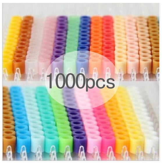 1000 pcs/Bag 5mm Hama Beads/ PUPUKOU Iron Beads KID FUN.Diy Intelligence Educational Toys Puzzles