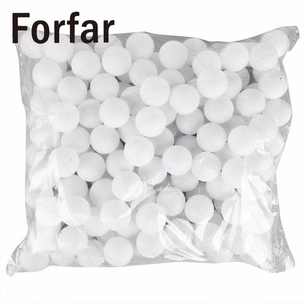 Forfar 150 Pcs 38mm White Beer Pong Balls Balls Ping Pong Balls Washable Drinking White Practice Table Tennis Ball ping pong