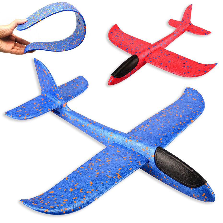EPP Foam Hand Throw Airplane Outdoor Launch Glider Plane Kids Gift Toy 48CM Interesting Toys
