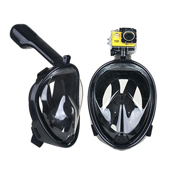 Hot Sale Scuba For GoPro Camera Snorkel Mask Underwater Anti Fog Full Face Snorkeling Diving Mask With Anti-skid Ring Snorkel