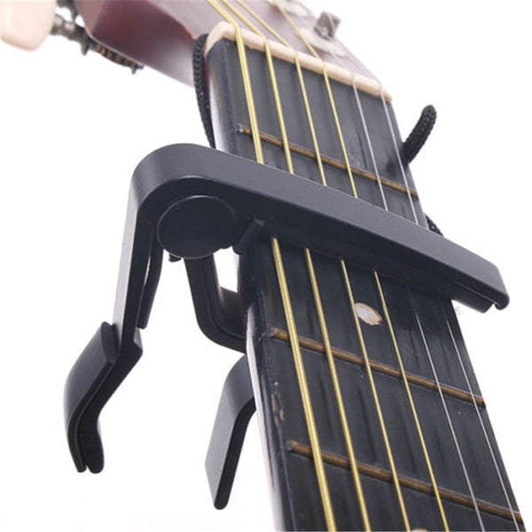 2017 New Silver Quick Change Clamp Key Acoustic Classic Guitar Capo For Tone Adjusting for Electric Acoustic Guitar Ukulele New