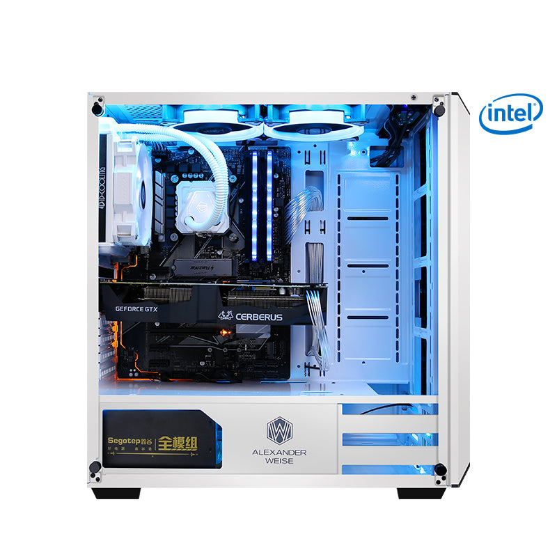 Getworth A3 AMD Ryzen7 2700 8GB 2666 RAM 120GB SSD GTX1070 120mm Liquid Water Cooler Gaming PC Deskop Computer Home White Fans