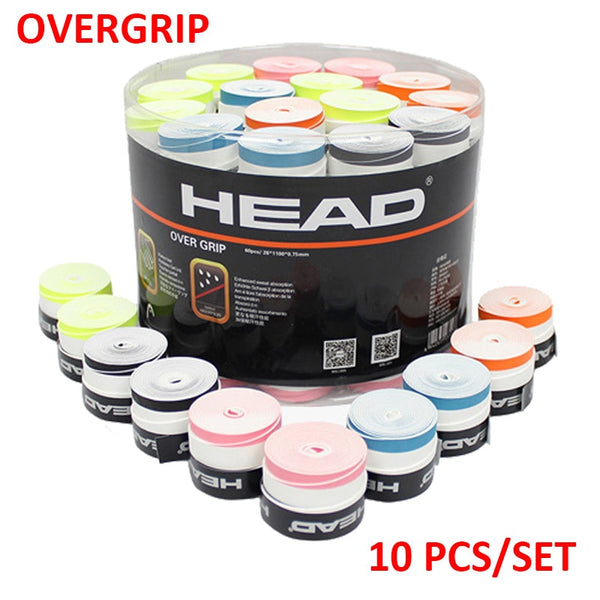 10 PCS/SET Anti Slip Head Overgrip Tennis Grip Racket Padel Accessories Shock Absorber Raquete De Tennis Badminton Training