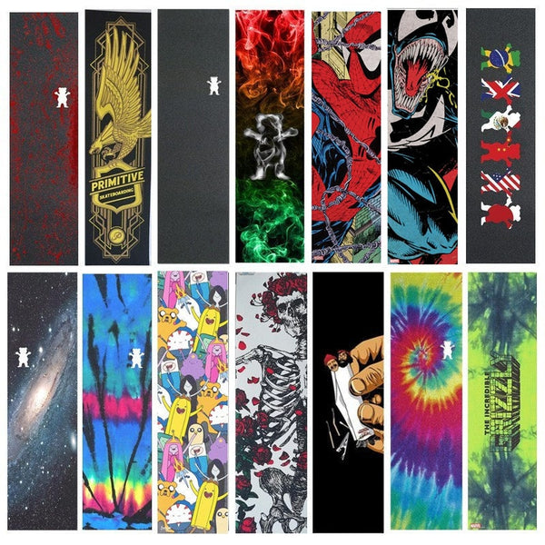 "Professional Pro Skateboard Grip tape 9""x33"" Multi Graphic Griptapes For Scooter Penny Board Sandpaper Skate Deck Grips"