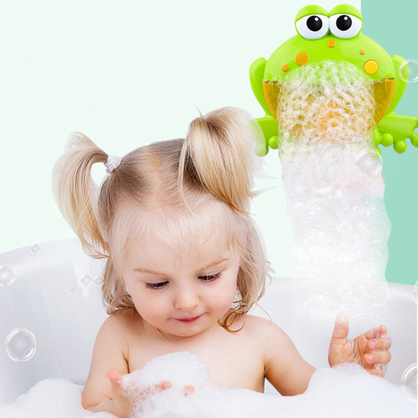 Mummy Baby Funny Music Crab Bubble Machine Big Frogs Electric Automatic Bubble Maker Blower Music Bathroom Toy for Baby TSLM1
