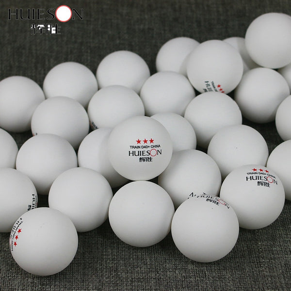 Huieson 100 Pcs 3-Star 40mm 2.8g Table Tennis Balls Ping Pong Balls for Match New Material ABS Plastic Table Training Balls