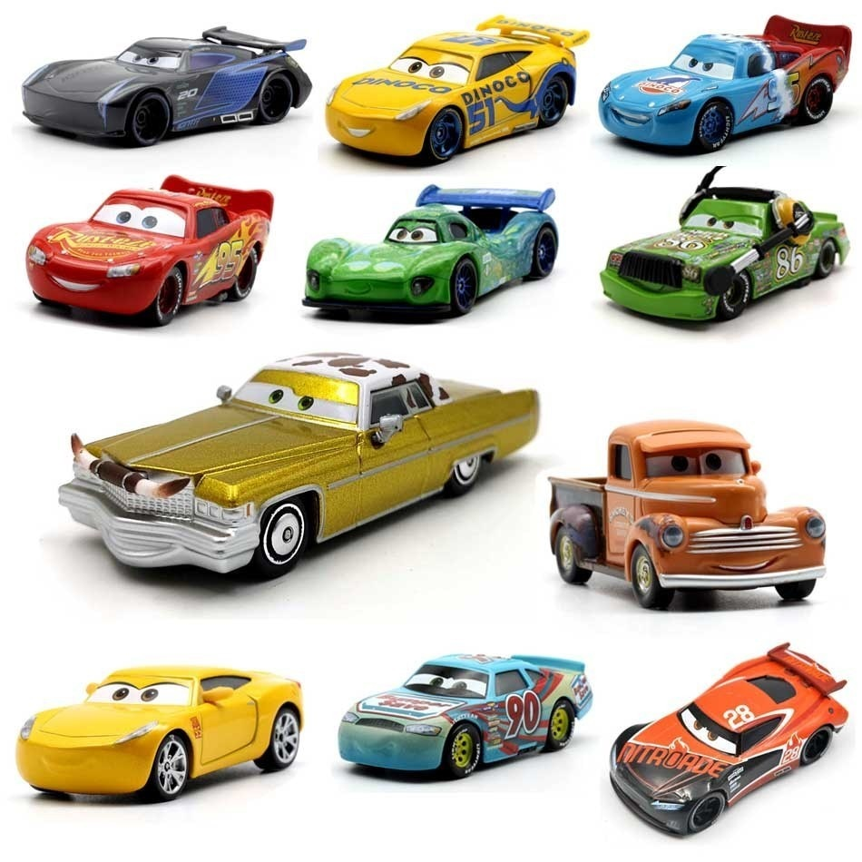 39 Style Lightning Mcqueen Pixar Cars 2 3 Metal Diecast Cars Disney 1:55 Vehicle Metal Collection Kid Toys For Children Boy Gift