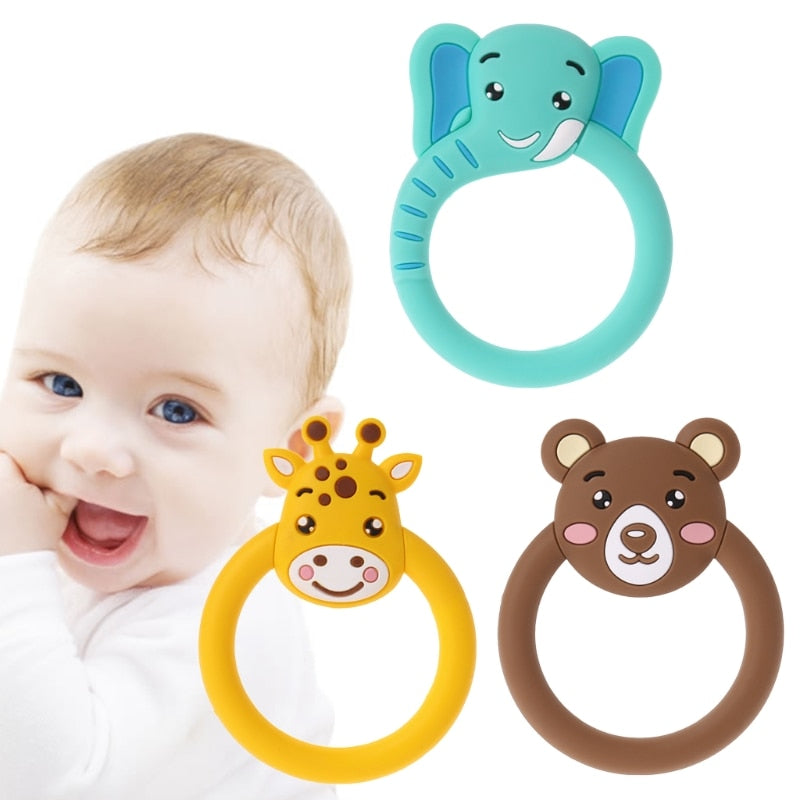 Cute Baby  Pacifier Teethers  Cartoon Teething Nursing Silicone  Necklace Toys Hot Selling