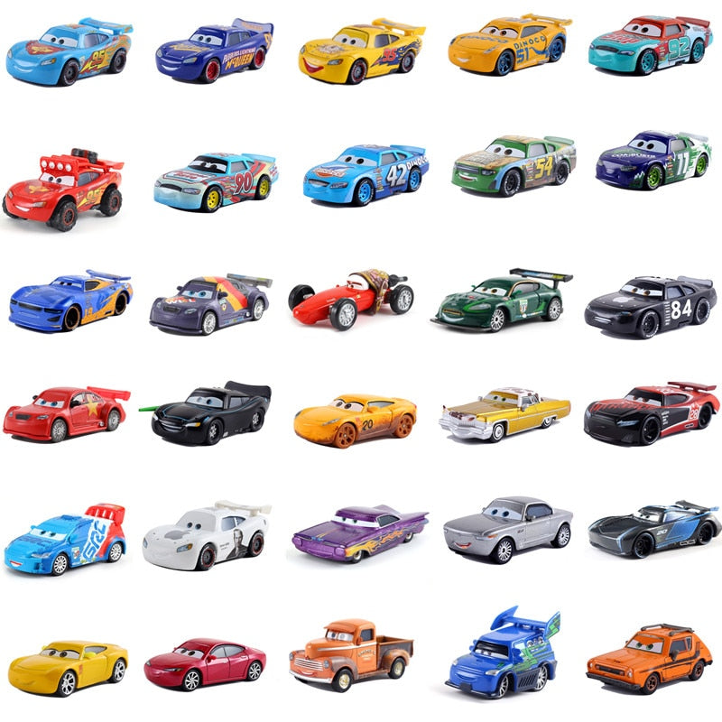 Disney Pixar 39 Style Cars 3 New Lightning McQueen Jackson Storm Smokey Diecast Metal Car Model Birthday Gift Toy For Kid Boy