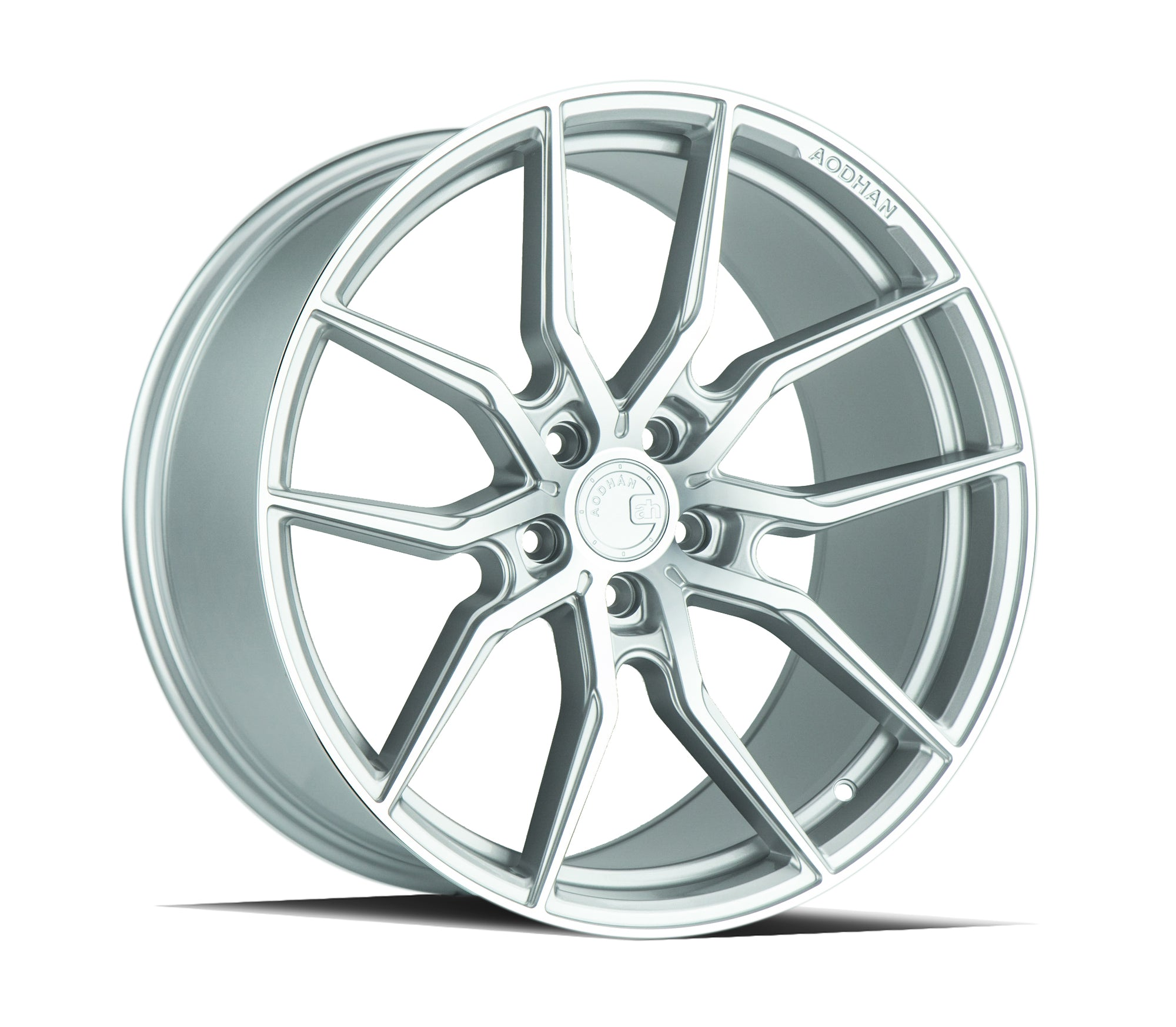 Aodhan AFF1 20x10.5 5x114.3 +45 Gloss Silver Machined Face