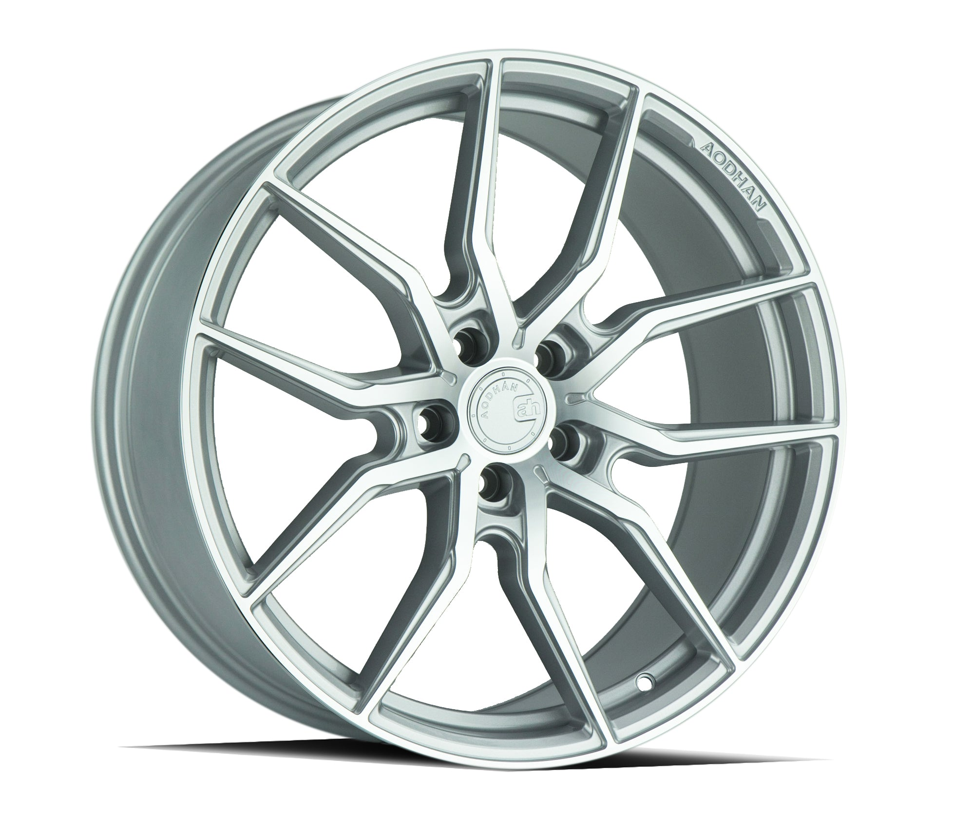 Aodhan AFF1 20x9 5x114.3 +32 Gloss Silver Machined Face