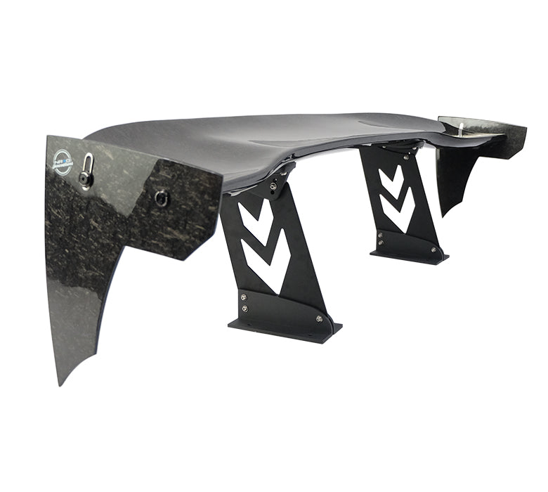 "NRG CARB-A591NRG Universal 59"" Forged Carbon Fiber Spoiler with Adjustable End Plates"