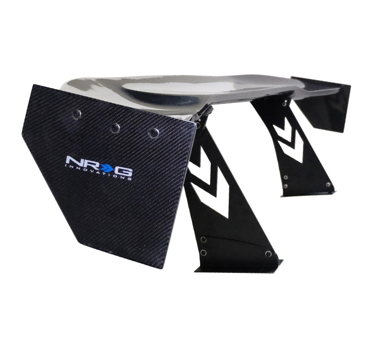 "NRG CARB-A691NRG Universal 69"" Carbon Fiber Spoiler with NRG logo, Stand Cut Out, Large Side Plate"