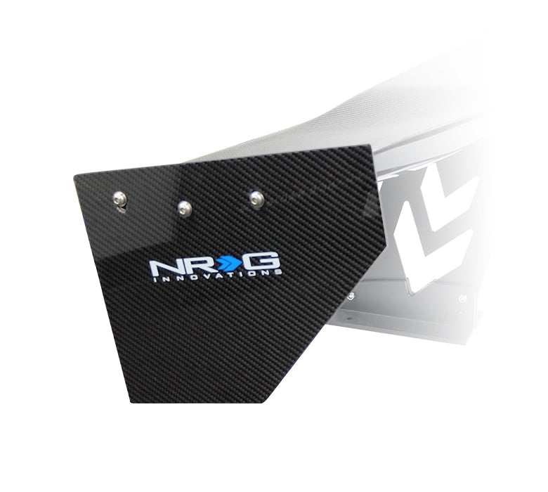NRG CARB-P590NRG Carbon Fiber End Plates (Sold as pair)