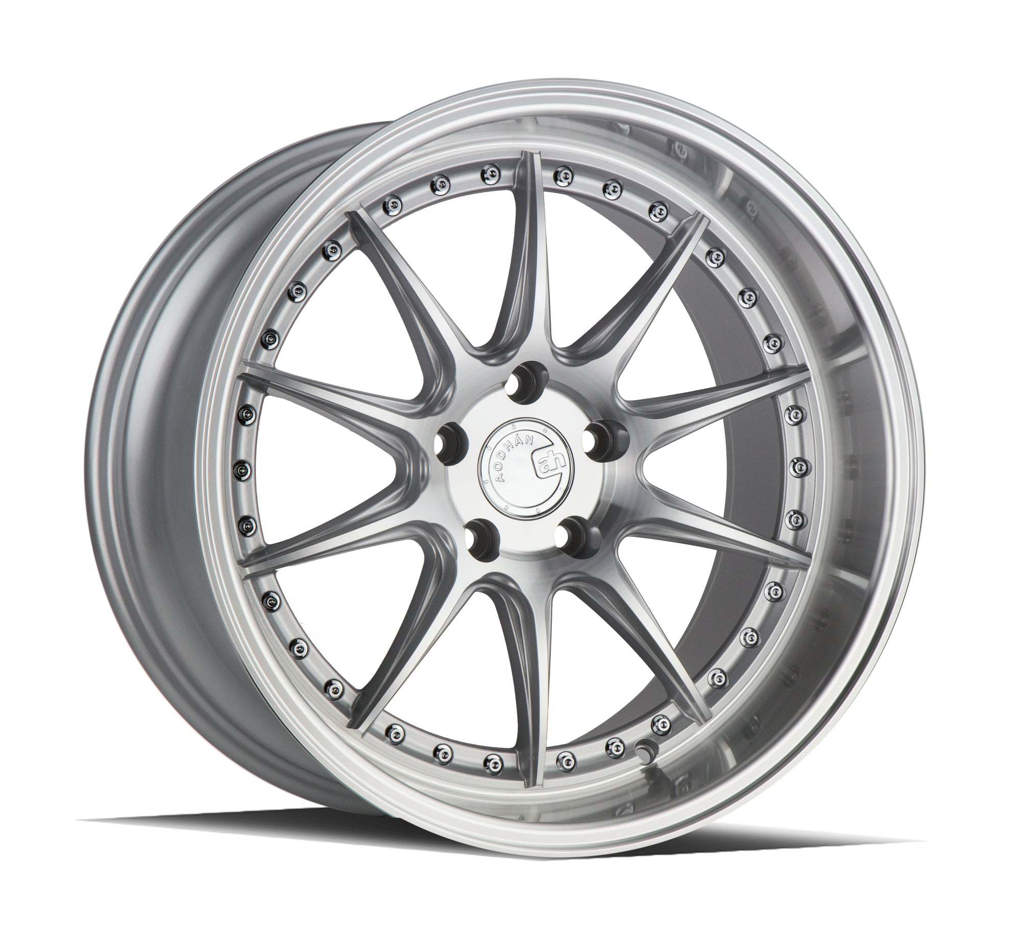 Aodhan DS07 18x10.5 5x114.3 +22 Silver w/Machined Face