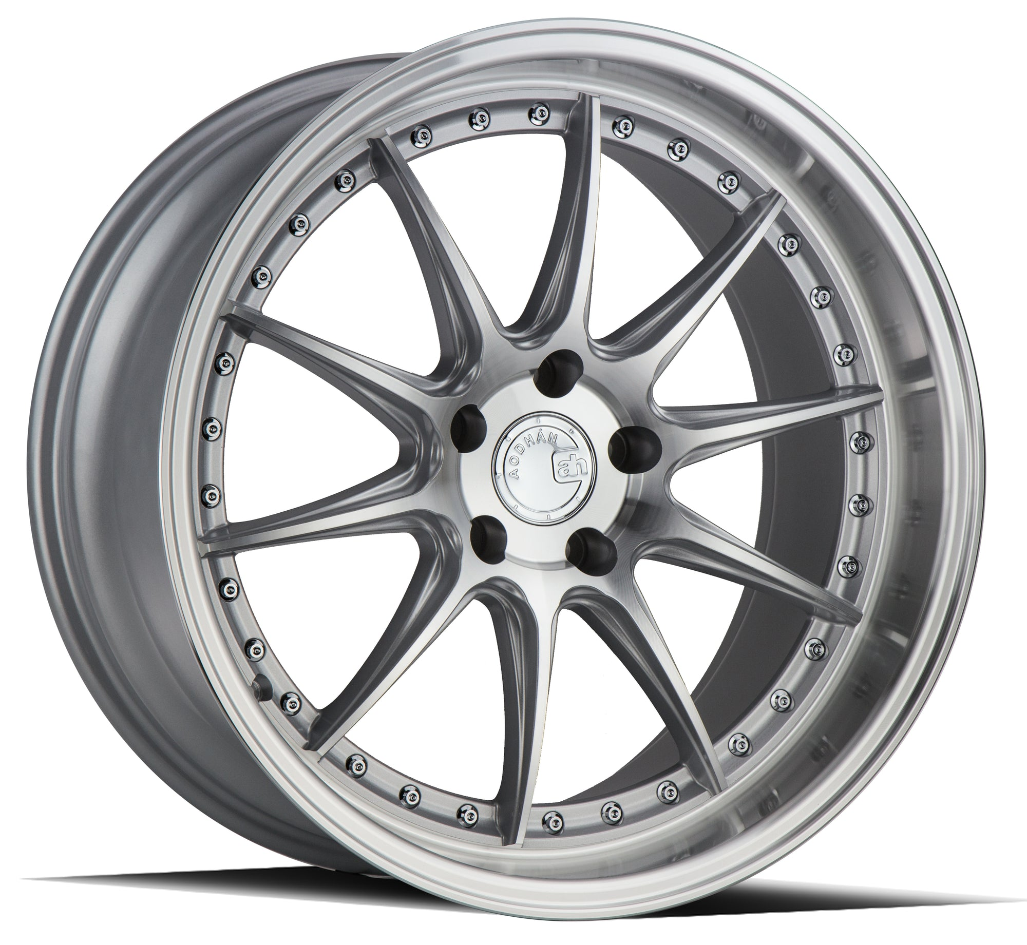 Aodhan DS07 19x9.5 5x114.3 +22 Silver w/Machined Face