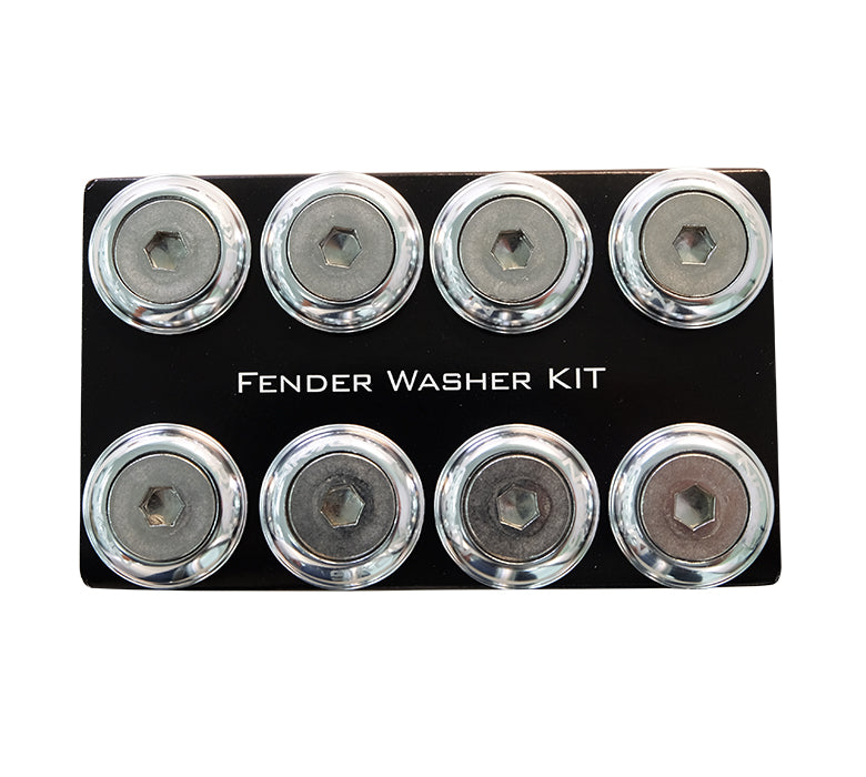 NRG FW-800SL Silver with Color Matched Bolts Rivets for Plastic Fender Washer Kit (Set of 8) - M8 Size Fits 12mm Bolts