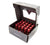 NRG LN-LS700RD-21 Red With Locks & Lock Socket M12 x 1.5 Steel Lug Nut With Dust Cap Cover (Set of 21)